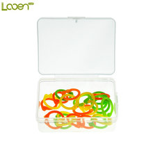 Looen Brand 24Pcs/set Silicone Stitch Markers With Box Knitting Crochet Locking Markers Crochet Latch Knitting Tools(China)