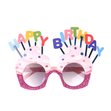 Happy Birthday Glasses Ice Cream Shaped Glass Party Favors Costume Sunglasse For Birthday Gift Event & Party Supplies Decor 1pcs(China)
