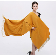 Cashmere Silk Shawl Solid 200*65cm Echarpe Luxury Designer Scarf Winter 2016 Womens Fall Fashion Thick Scarf Brand Free