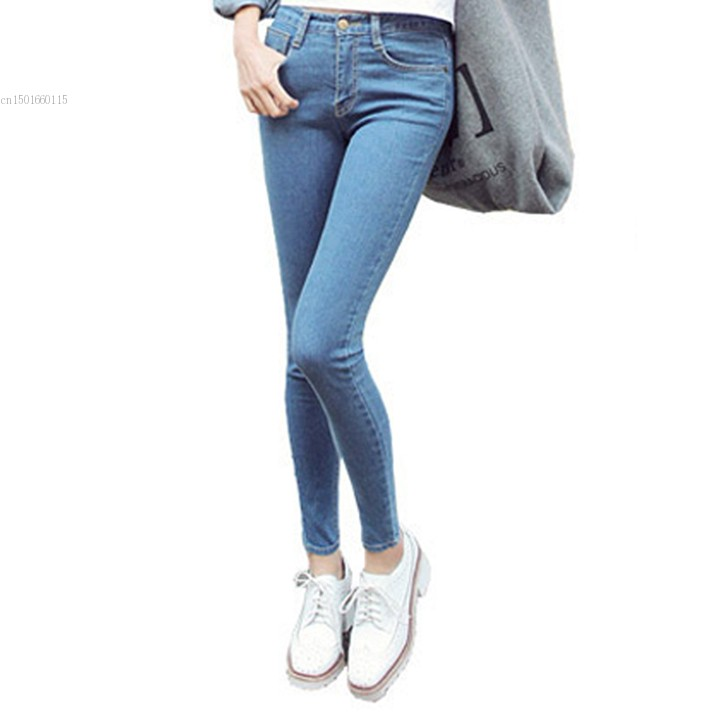 Top Quality Denim Jeans Lady 2014 Slim In The Waist Jeans High Elastic Pencil Pants Skinny Women Plus Size Jean XL 29Одежда и ак�е��уары<br><br><br>Aliexpress