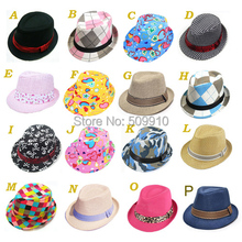 Mixed Designs Baby Trilby Fedora Hat Boys/Girls Jazz Cap Sunbonnet Baby Cowboy Hat 16 styles(China)