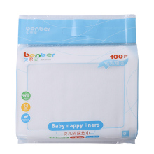 100PCS/Pack Disposable Baby Thin Non Woven Fabric Diaper Nappy Liners Insert Infant(China)