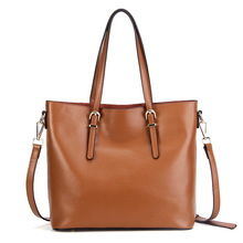 2017 new women leather handbags Cattle Lady Retro Shopping Tote Bag women fashion Handbags Shoulder Messenger Bags(China)