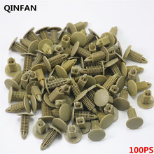 100pcs 8mm  Hole Door Rivet  Plastic Buckle Car Trunk Small Leather Buckle Ceiling Clip Rivet  Auto Fasteners