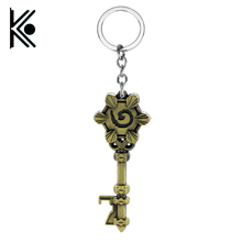 2016 New Arrival dota 2 Keychain War craft Zinc Alloy keyring Official Classic wow Key Chain Ring for fans(China)