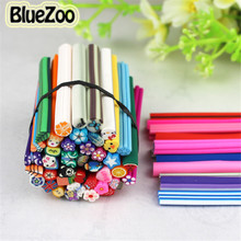 BlueZoo New 50pcs Mix Designs Polymer Clay Nail Art Canes Stickers Decoration Fimo Rods Decoration
