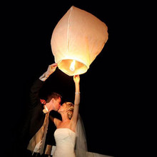 Bachelorette Party 10pcs White Flying Wishing Lamp Chinese Lantern Sky Lanterns Hot Air Balloon Lantern Hen Wedding Decoration