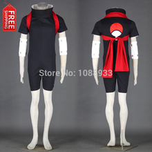 Free Shipping Hot Japanese Anime Naruto Cosplay Sasuke Uchiha Cosplay Costume Ninja Costume Assassin Costume Wholesale