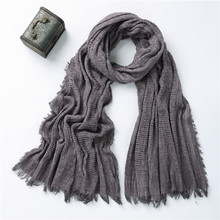 2017 Women Plain Cotton Scarf Black Maxi Blanket Scarves India Long Islamic Headwrap Muslim Hijab Scarf Cachecol