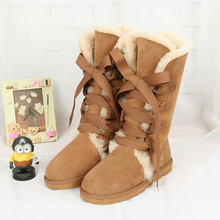 100% high quality snow boots in the winter of 2017 new Australian natural sheepskin boots High Boots Free Shipping