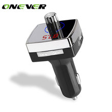 Onever Bluetooth 4.2 Car Kit Music Player FM Transmitter Modulator 3.1A Dual USB Car Charger AUX OUT Support U Disk MP3 Player(China)