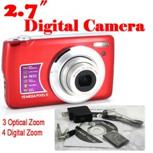 by dhl or ems 20 pieces 15MP 4x Digital zoom 3x Optical Camera 2.7 Inches Anti-shake Face Detection digital camera(China)