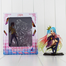 15cm Japan Anime No Game No Life Shiro 1/7 Scale Pre-painted Figure Action PVC Model Toys Doll Kids Gifts