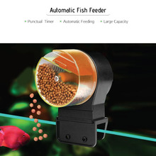Automatic Fish Feeder Electric Fish Food Timer Auto Dispenser 50g & 100g Capacity for Aquarium Fish Tank(China)