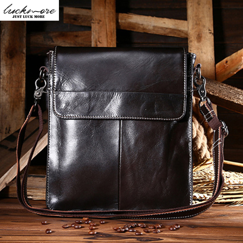 High Quality Genuine Leather Vertical Man Shoulder Bags For Men Messenger Bag With Adjustable Straps bolsas sacoche homme 2017<br>