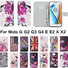 Buy Fashion Leather Flip Cover Wallet Case Motorola Moto G G2 G3 XT1541 G4 E E2 X X2 G5 G4 Play XT1672 Card Holder Phone Coque for $2.76 in AliExpress store