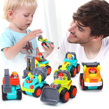 6PCS/Lot Baby Toys Mini Construction Vehicle Cars- Forklift, Bulldozer, Road Roller, Excavator, Dump Truck, Tractor Toys for Boy(China)