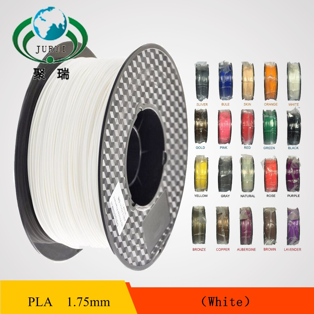 1.75mm PLA Filament 3D Printer Filament 1KG/SPOOL WHITE<br><br>Aliexpress
