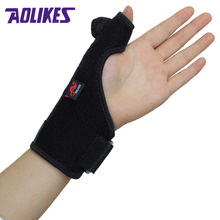 AOLIKES 1PCS Elastic Thumb Wristband Spring Steel Wrap Hand Palm Wrist Brace Right or Left Hand Support Corrector Bandage