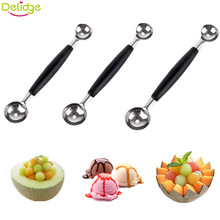 Delidge 1 pcs Double-End Multi Function Fruit Spoon Stainless Steel  Melon Baller Carving Knife Ice Cream Scoop Spoon
