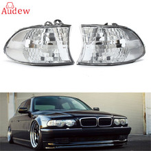 1 Pair Style Euro Corner Lights Turn Signals Clear Sidelights Side Lamp Clear For BMW E38 7-SERIES 1999/2000/2001(China)