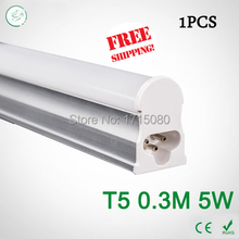 Super Brightness 5W T5 led Tubes  300mm SMD 2835 Led Bulbs lights Fluorescent Tubes AC85~265V Constant Current  free shipping