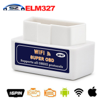Newest sale ELM 327 WIFI V1.5 OBDII/OBD2 Auto Scanner Tool Support Android & IOS System ELM327 Wifi Support OBD II Protocols