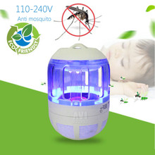 Mosquitoes LED Anti Electric UV Light Zappers Fly Insect Killer Lamp Plastic Silent Indoor Night Lamps Pest Control Summer Gift(China)
