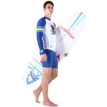 Two piece slimming wetsuit bag ruffle low waist swim S M L XL rash guards crop top for men crotchless bikinis kids bodysuit
