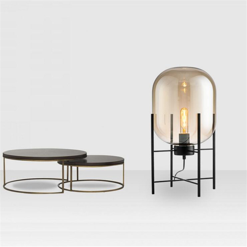 Nordic Style Glass Floor Lamp Retro Melon Floor Lights Fashion Design Glass Table Lamps Lights for Living RoomCountry HouseBar (17)