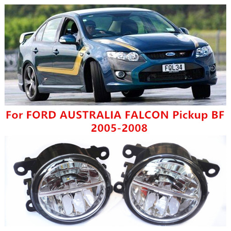 For FORD AUSTRALIA FALCON Pickup BF 2005-2008  10W Fog Light LED DRL Daytime Running Lights Car Styling lamps<br><br>Aliexpress