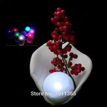 24pcs Battery Operated Mini Fairy Ball Pearl Colorful Floating LED Berries Light for Wedding Christmas Decoration Party Supplies