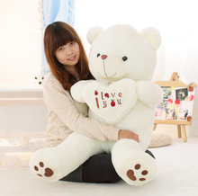 big size 50-110cm large size I LOVE YOU Lovely Teddy Bear Plush Toys Big Toys Stuffed Plush Animals Hold The Heart Bear