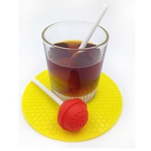 Silicon Sweet Tea Infuser Candy Lollipop Loose Leaf Mug Strainer Cup Steeper LINSBAYWU(China)