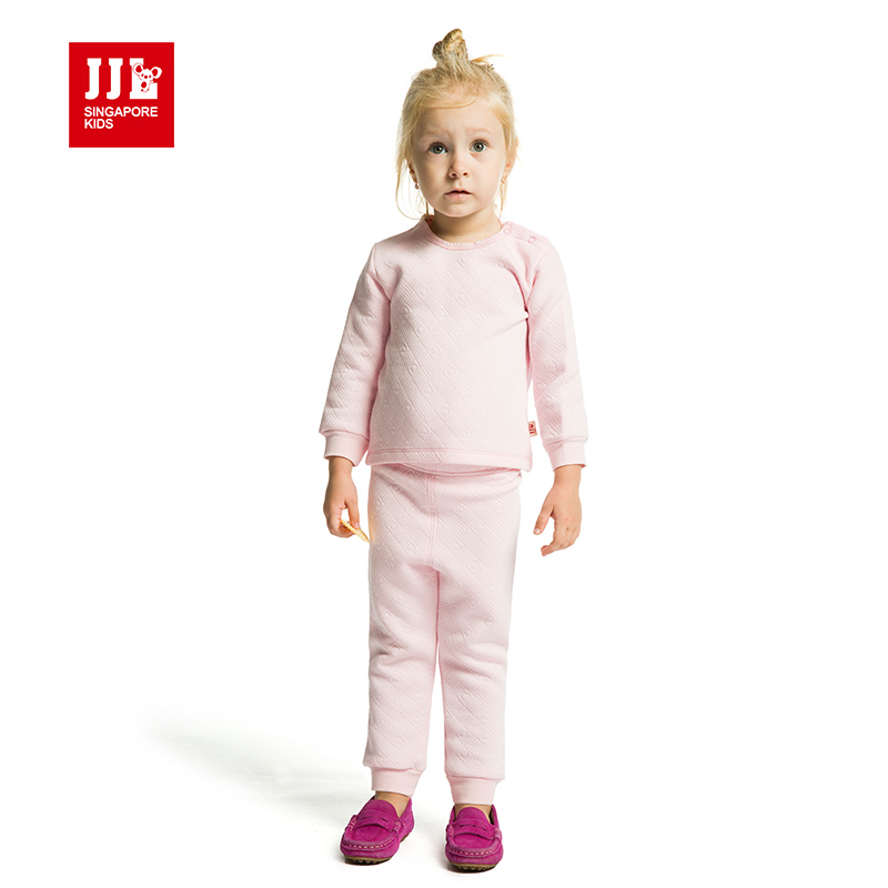baby girls clothes solid sets homewear tops and pants long sleeve full trousers shoulder single breasted 2015 new arrival 0-12M<br><br>Aliexpress