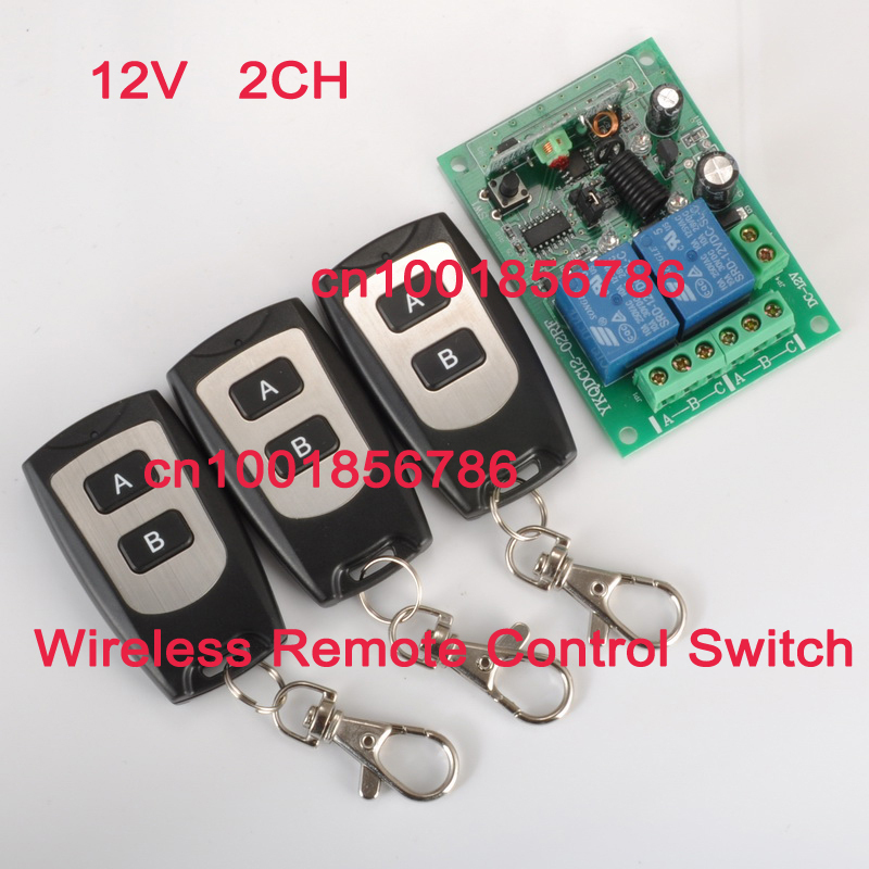 Free shipping RF Wireless Remote 3 Transmitter 2CH Power Switch+Receiver(switch) 12V 10A Romote Control Switch System<br><br>Aliexpress
