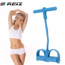 REIZ 4 Elastic Band Fitness Resistance Band Rope Yoga Pilates Workout Latex Tube Pull Rope Exercise Equipment Trainer Tool(China)