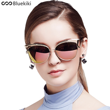 KIKI Women Sunglasses Polarized Retro Cat Eyes Metal Driving Gold Sun Glasses Brand Designer UV400 oculos de sol feminino(China)