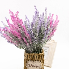 wedding home decoration Romantic Provence lavender flower silk artificial flowers grain decorative Simulation of aquatic plants(China)