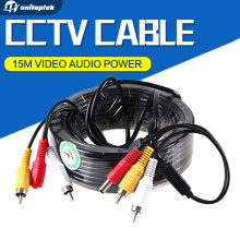 Security 15m 49ft CCTV Cable RCA CCTV Camera Video Audio AV Power Cable For Surveillance Camera DVR System
