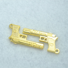 10pcs new design Gold metal charms pistol pendants ,necklace or bracelets for jewelry making Z142082(China)
