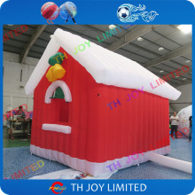 Free shipping! 3x3m inflatable christmas house tent, santa claus house tent, inflatable santa grotto for sale(China)