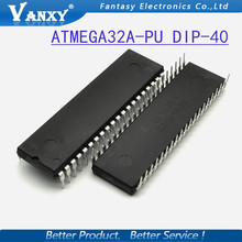2PCS ATMEGA32A-PU DIP ATMEL ATMEGA32A ATMEGA32 DIP40 Programmable Flash free shipping(China)