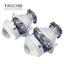 TAOCHIS 2pcs Auto Car Headlight 3.0 inch Bi-xenon Hella 3R G5 5 Projector lens Car styling Retrofit head light Modify D2s(China)