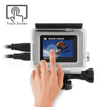 Side Open Skeleton Touch Screen Protective Housing Case for Gopro hero 4 3+ Plus Silver Housing Gopro accessories