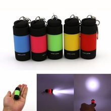 Ultra Bright Handy Flashlight Mini USB Rechargeable Led Light Lighting Lamp Flashlight Torch Keychain LED Light 5 color(China)