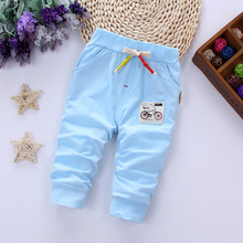 DIIMUU Summer Kids Baby Boys Girls Clothes Printing Bike Casual Trousers Toddler Infant Children Cotton Pants Apparel Fit 1-4Y