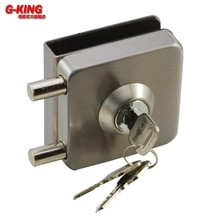 Don't punch glass door square single double inserted rod lock anti-theft lock door lock 333B glass glass(China)