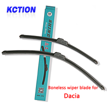 Car Windshield Wiper Blade For Dacia Duster Dokker Logan Sandero ,Natural rubber,Bracketless, Car Accessories