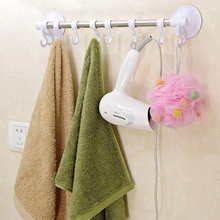 Stainless Steel Strong Suction Towel Bars with Hooks 60cm Long Home Towel Rack Holder Hotel Bathroom Accessories Organization(China)